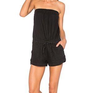 Joie coleta black strapless romper - size xxs!